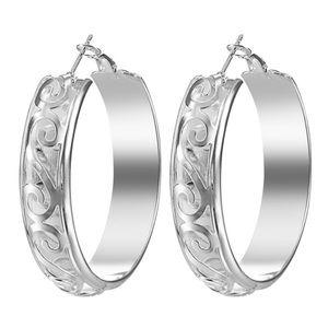 925 Sterling silver Womens Hoop  Dangle Earrings